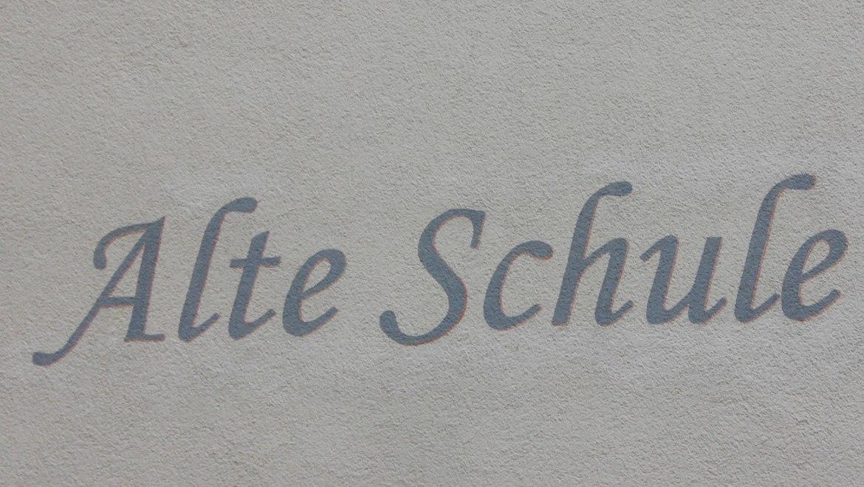 Schriftzug Alte Schule, © Maria Parzinger