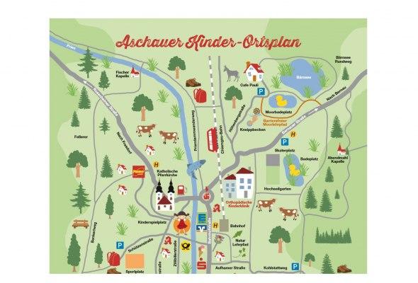 Kinderortsplan , © Tourist Info Aschau