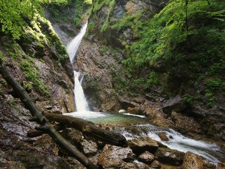 Wasserfall in Berg bei Sachrang, © Claus Schumann