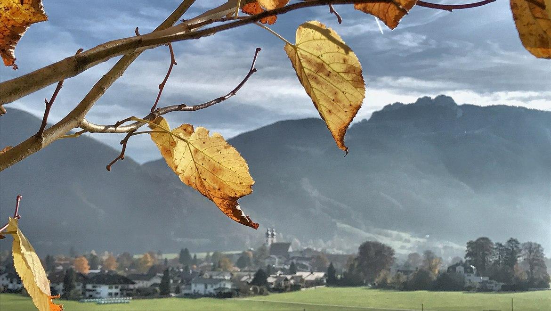 Herbstlicher Blick zur Kampenwand, © H. Reiter