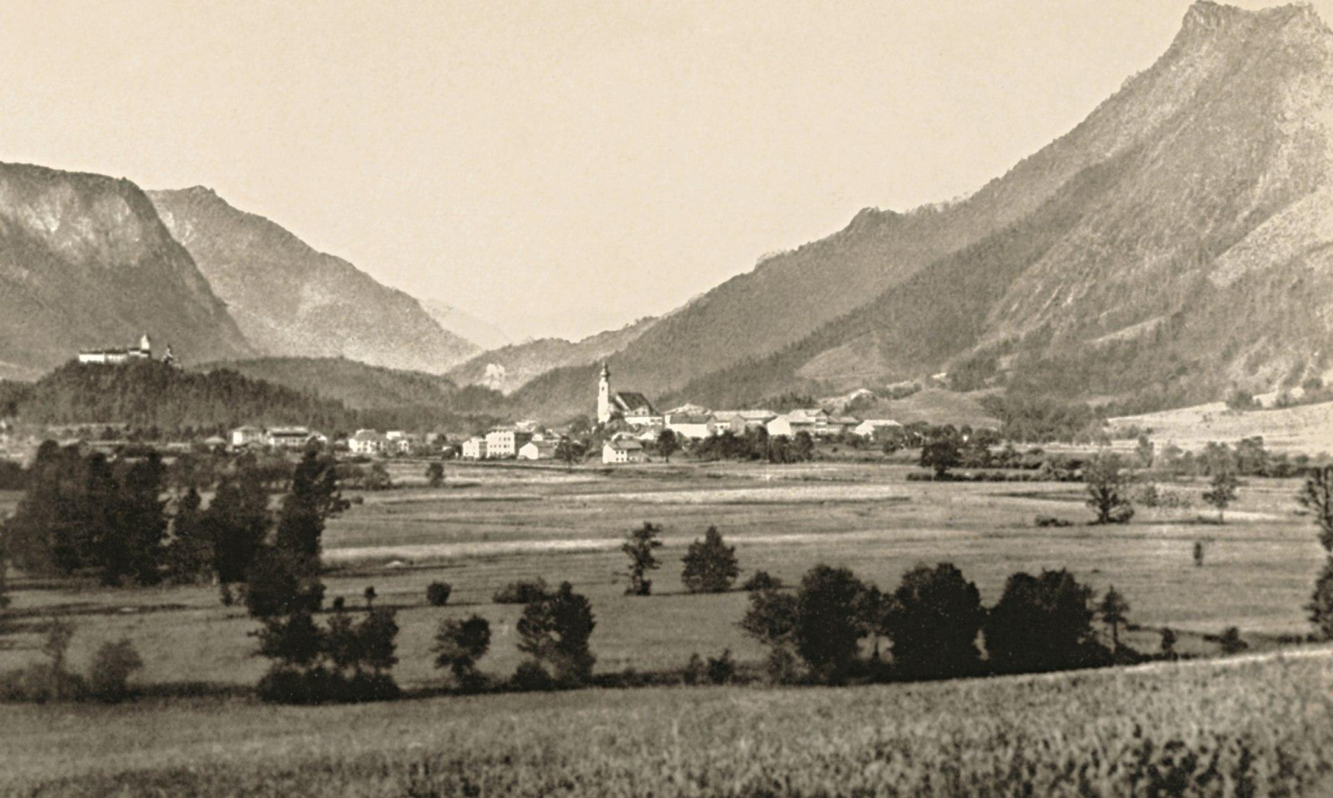 Alte Ansicht von Aschau im Chiemgau, © Archiv Gemeinde Aschau i.Ch.