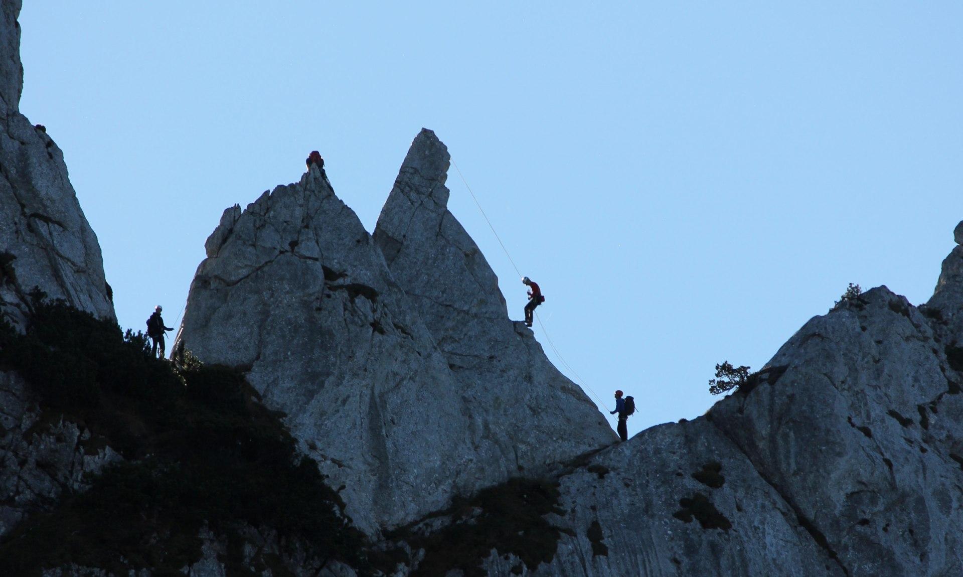 Klettern auf der Kampenwand, © Tourist Info Aschau i.Ch.