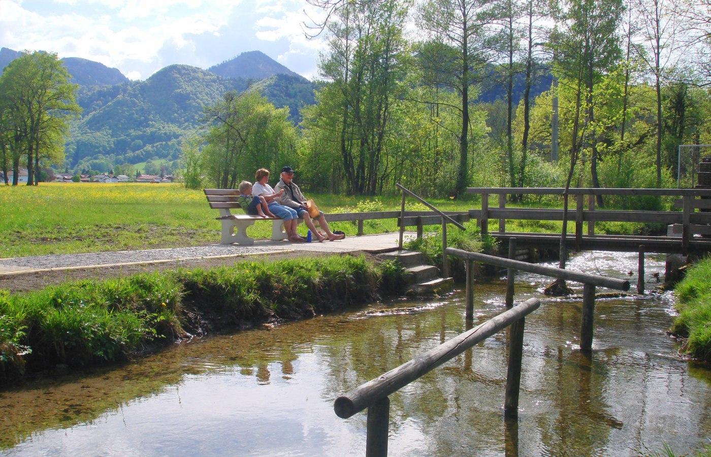 Kneippen am Moorbad, © Tourist Info Aschau i.Ch.