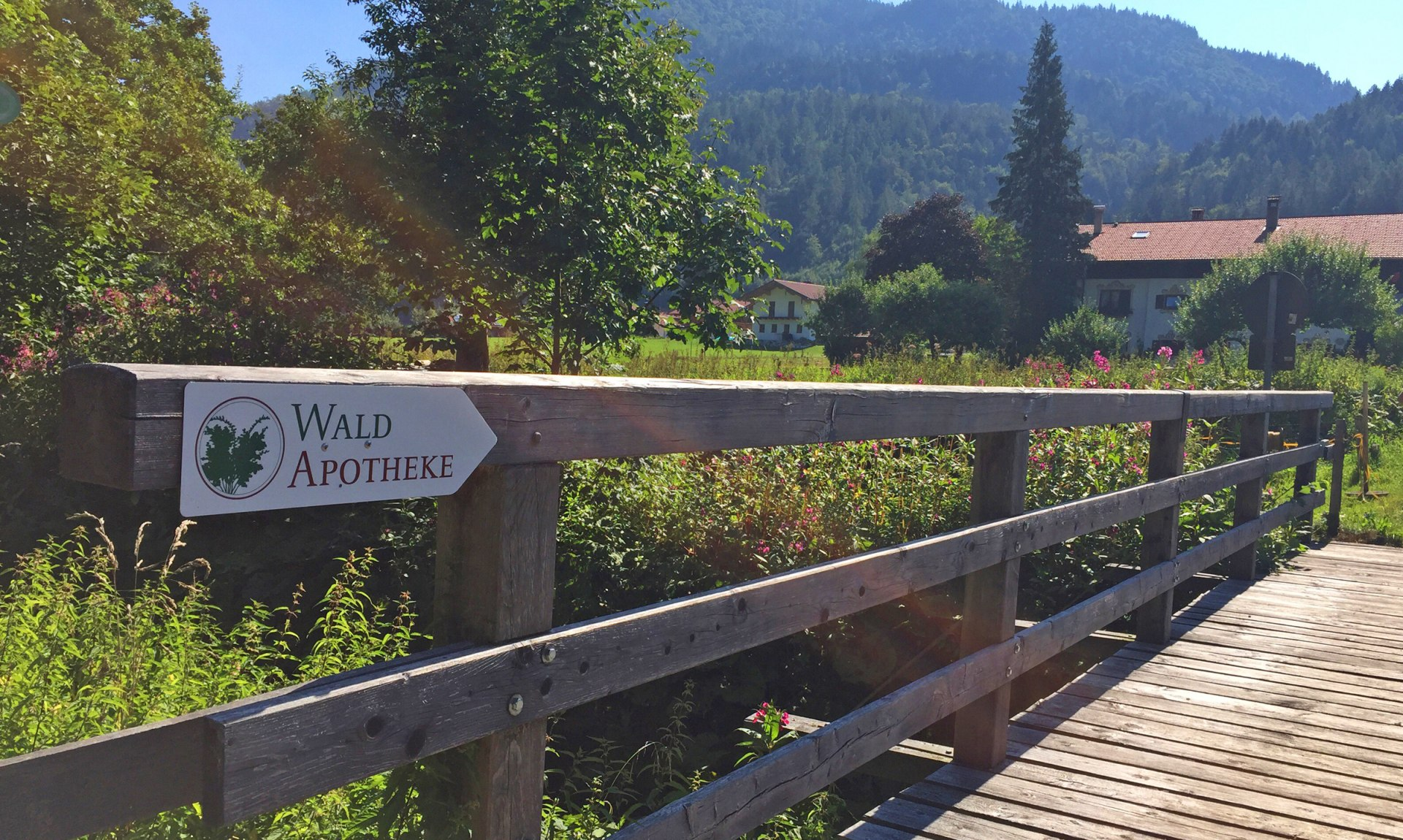 WaldApotheke Sachrang - Prienbrücke in Berg, © Tourist Info Aschau im Chiemgau