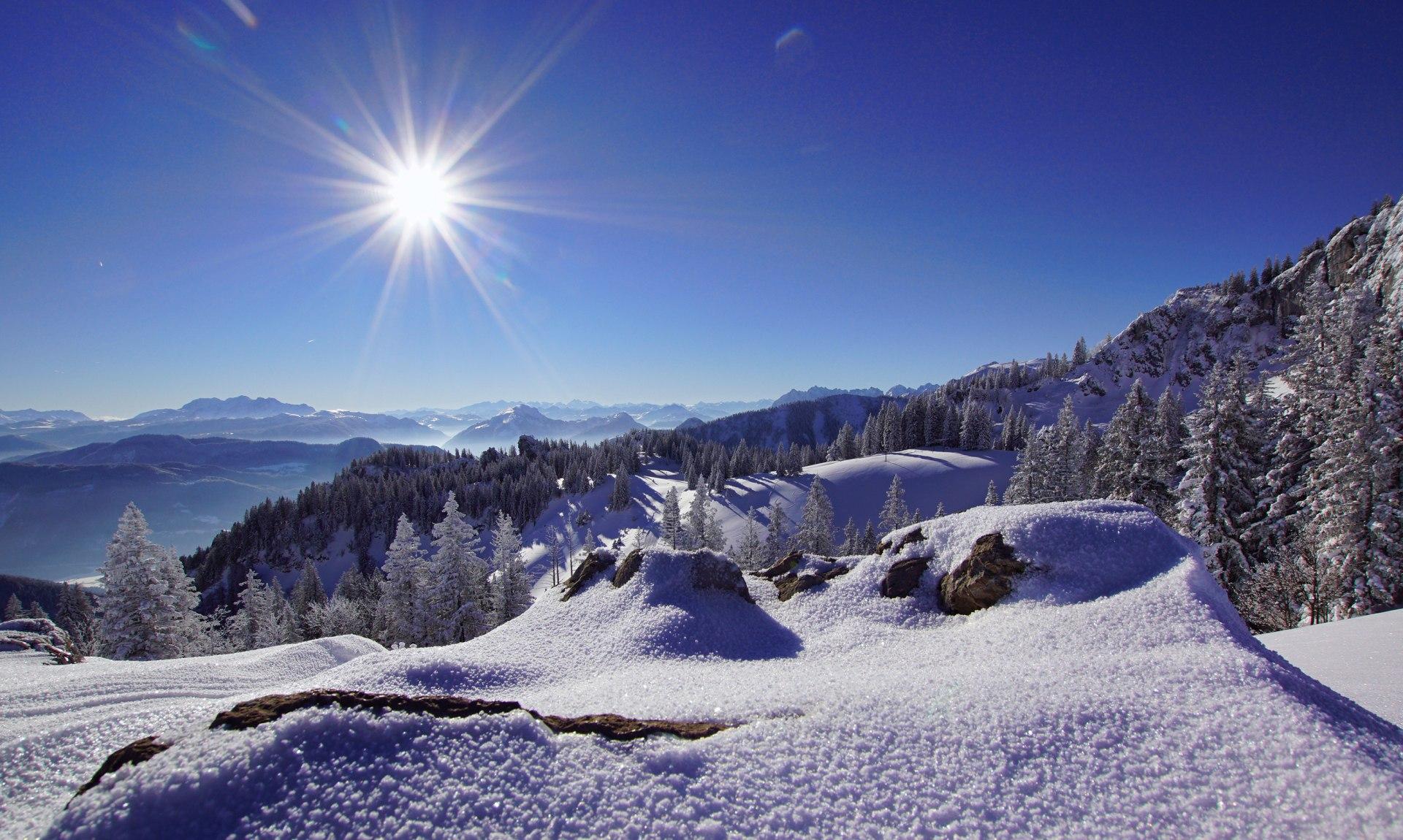 Kampenwand im Winter, © Claus Schuhmann