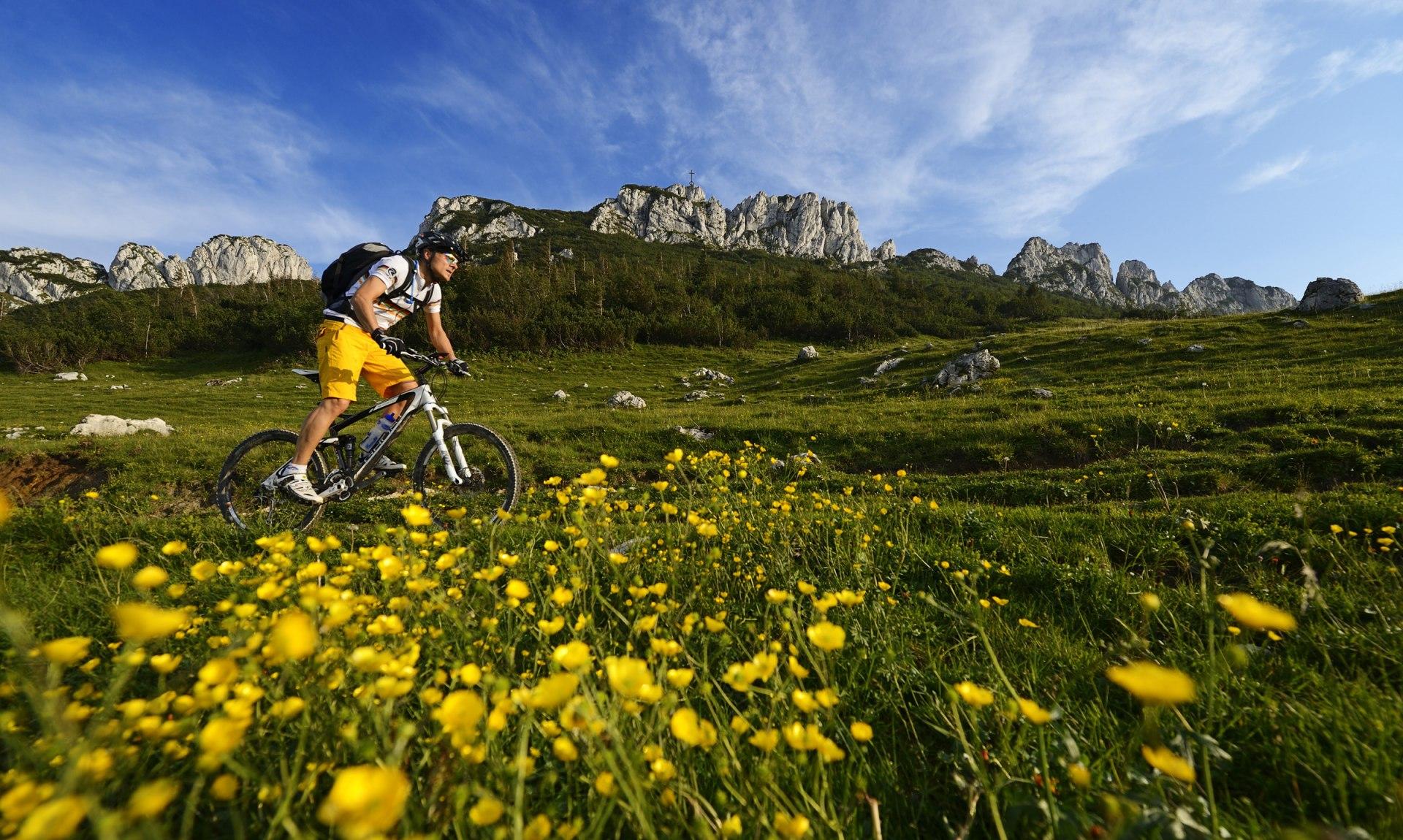 Mountainbiker auf der Kampenwand, © Norbert Eisele-Hein