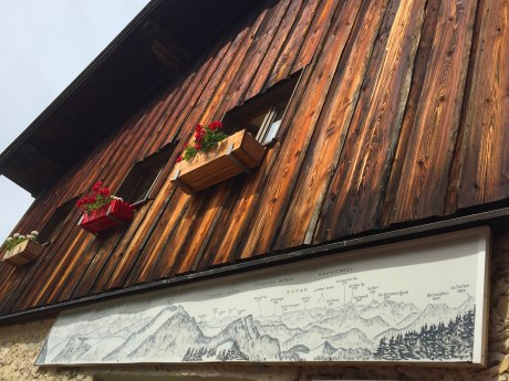 Panoramatafel Priener Hütte, © Manuela Maier