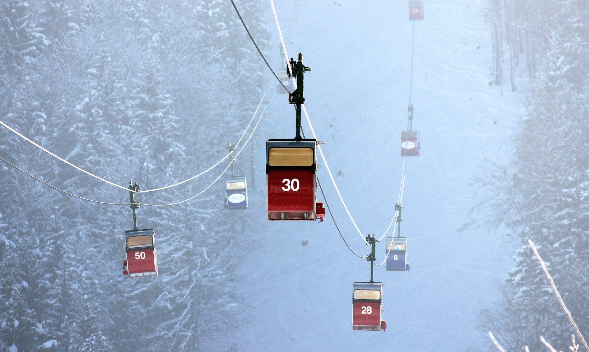 Gondel Kampenwand Winter, © Herbert Reiter
