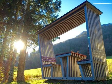 3_Mieslinger-Rast gestiftet von Schreiner Holzbau, © Herbert Reiter