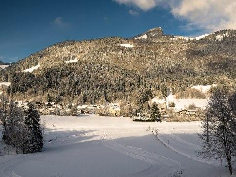 Blick auf Sachrang im Winter, © Joachim Brahms