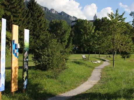 Stele Prientaler Flusslandschaft in Aschau, © Tourist Info Aschau i.Ch.