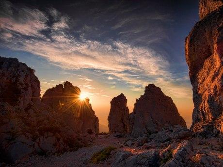 Sonnenuntergang auf der Kampenwand, © Ralf Blumenschein